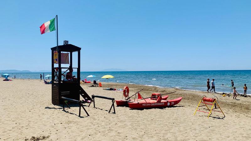 Paradù Eco Resort, Toskana, Beach, Salvataggio @ Foto: Andrea Fischer