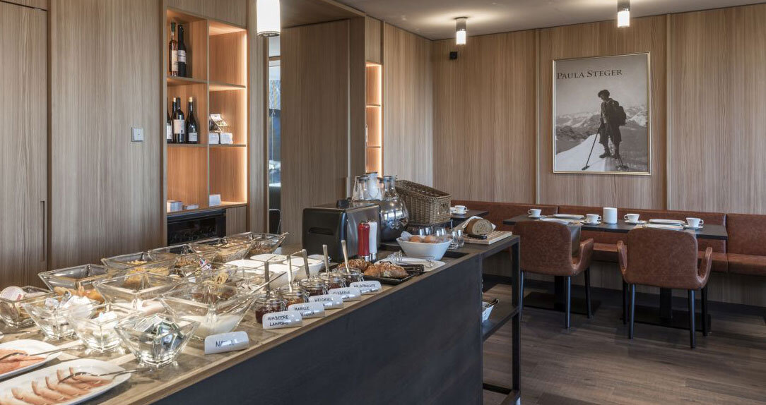 Fruehstucksbuffet in den Paula Wiesinger Apartments and Suites