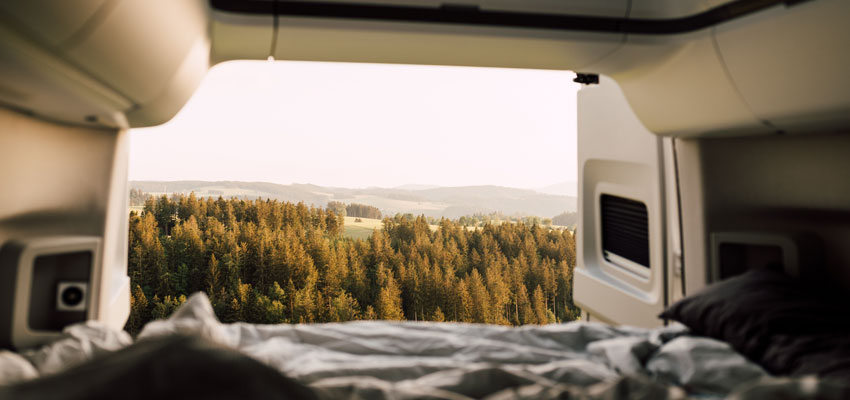 Paul Camper - Ausblick vom Camper in die Natur