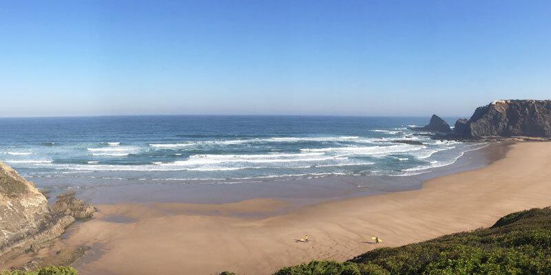 Praia de Odeceixe  Gesamtansicht Bild: Sandra Mueller-Hofner, Trips4kids.de
