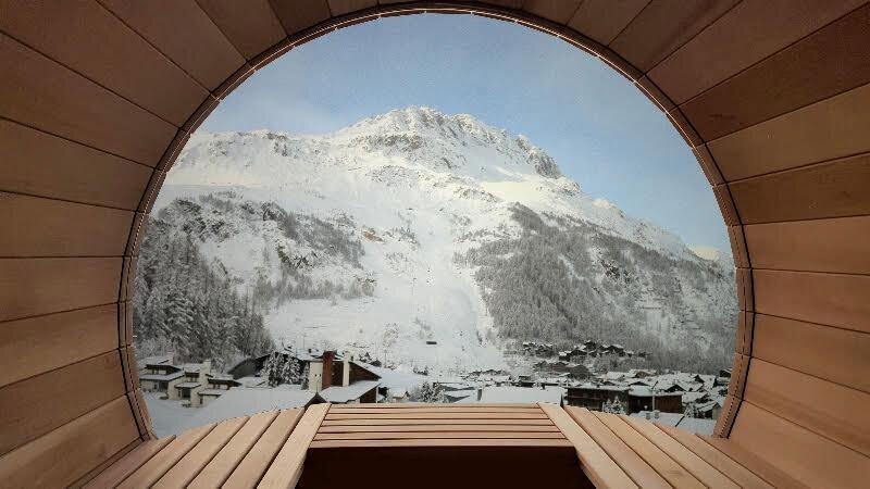 Fasssauna Dachterrasse L'Avancher, Val d'Isère