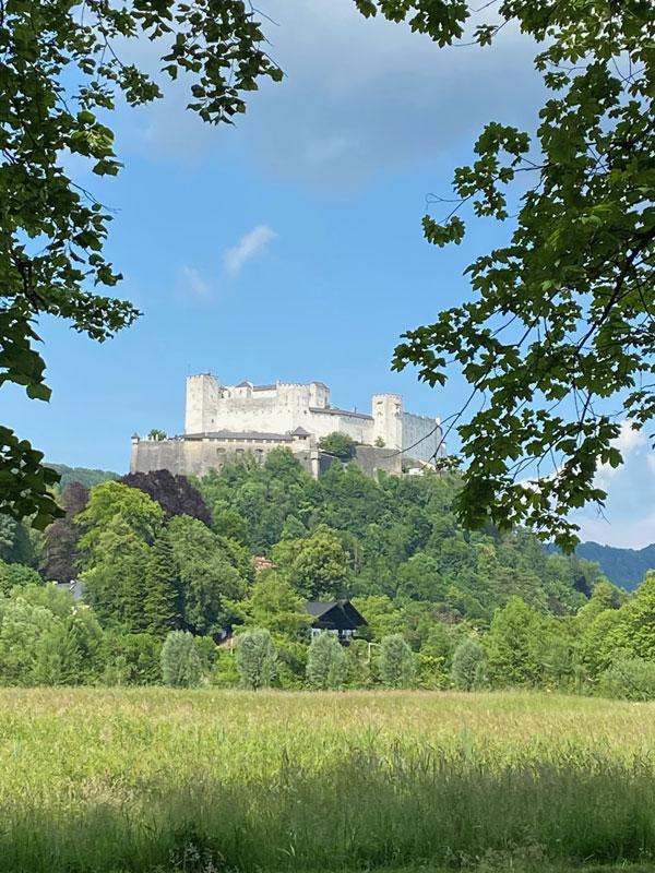 Schloss Leopoldskron Salzburg - Aussicht auf die Festung