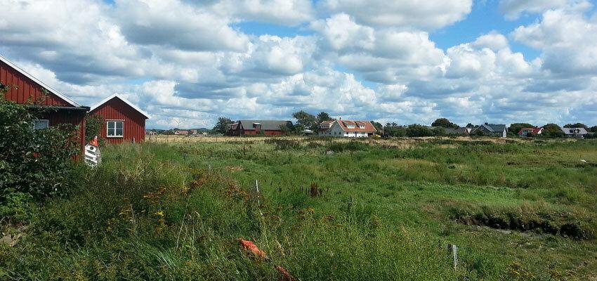 Rote Holzhäuser in Schweden