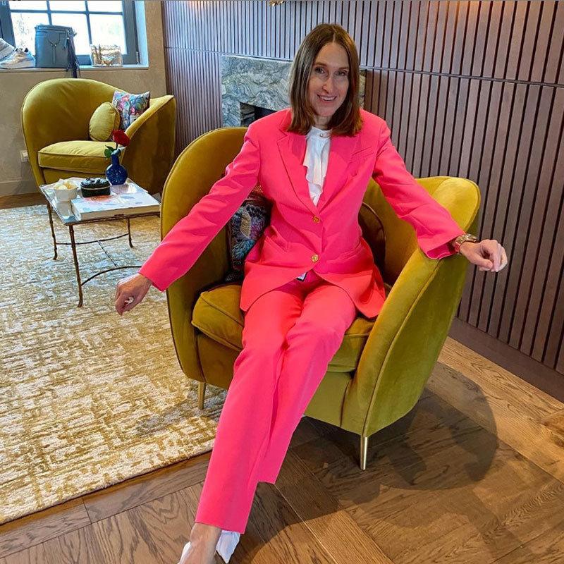 Annette Weber in pink