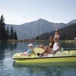 Cool: Tretbootfahren auf dem Berg! Erlebnispark Hoegsee!  Fotoquelle www.foto-mueller.com