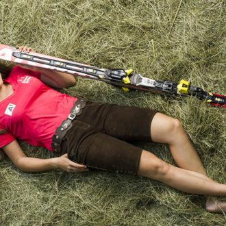 Ski-Rennläuferin Christina Ager ist auf der Stöcklalm aufgeachsen. Bildnachweis: Christoph Ascher