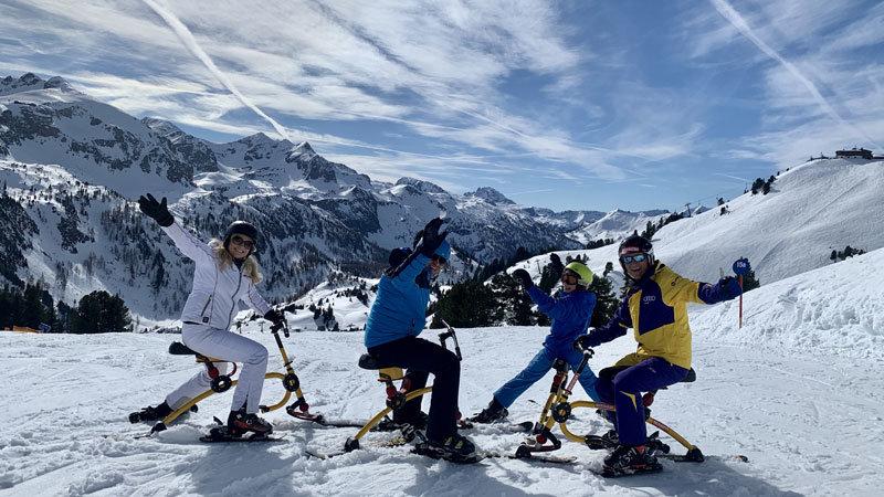 Snowbike mit Hermann Koch, Obertauern @ Foto: Trips4Kids.de, Andrea Fischer