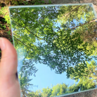 Wald im Spiegel- Waldbaden © Foto : Andrea Fischer