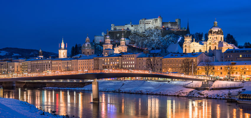 Stadtansicht-Salzburg-Abendstimmung