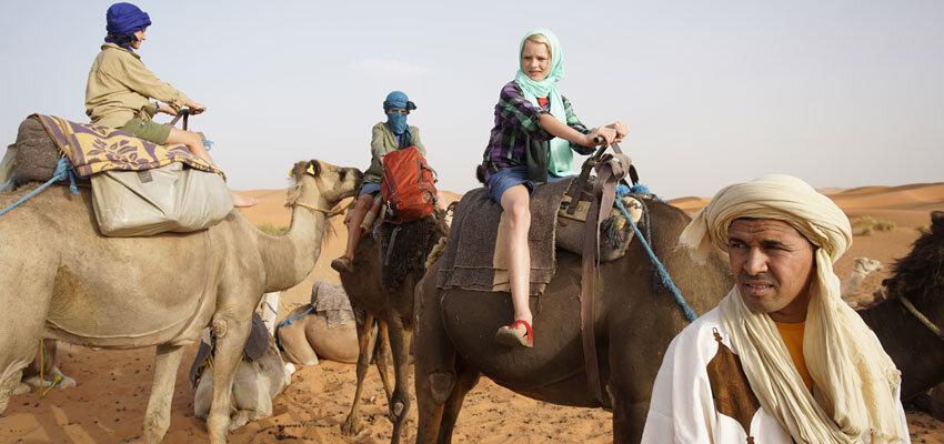 Wuestentour auf Kamelen
