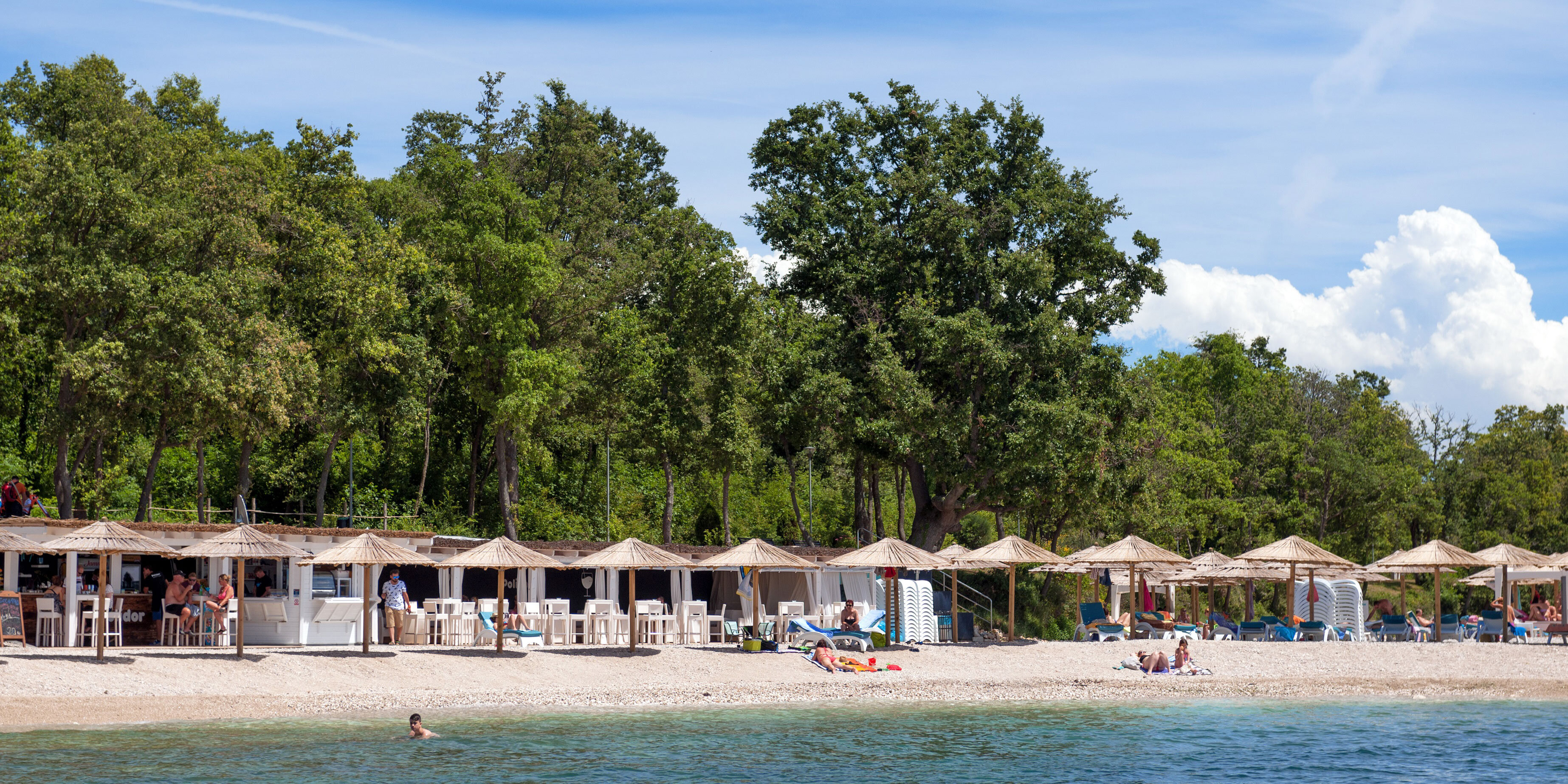 Strand in Funtana Istrien