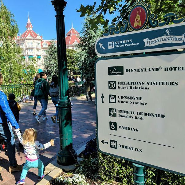 Infotafel-Disneyland