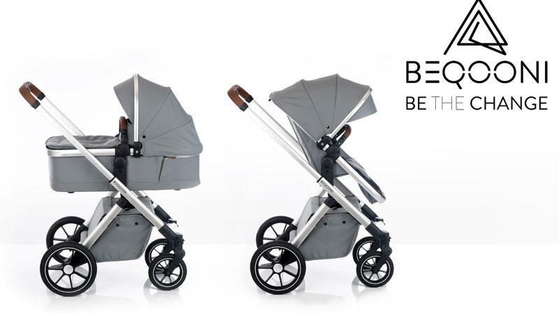 Beqooni Kinderwagen grau