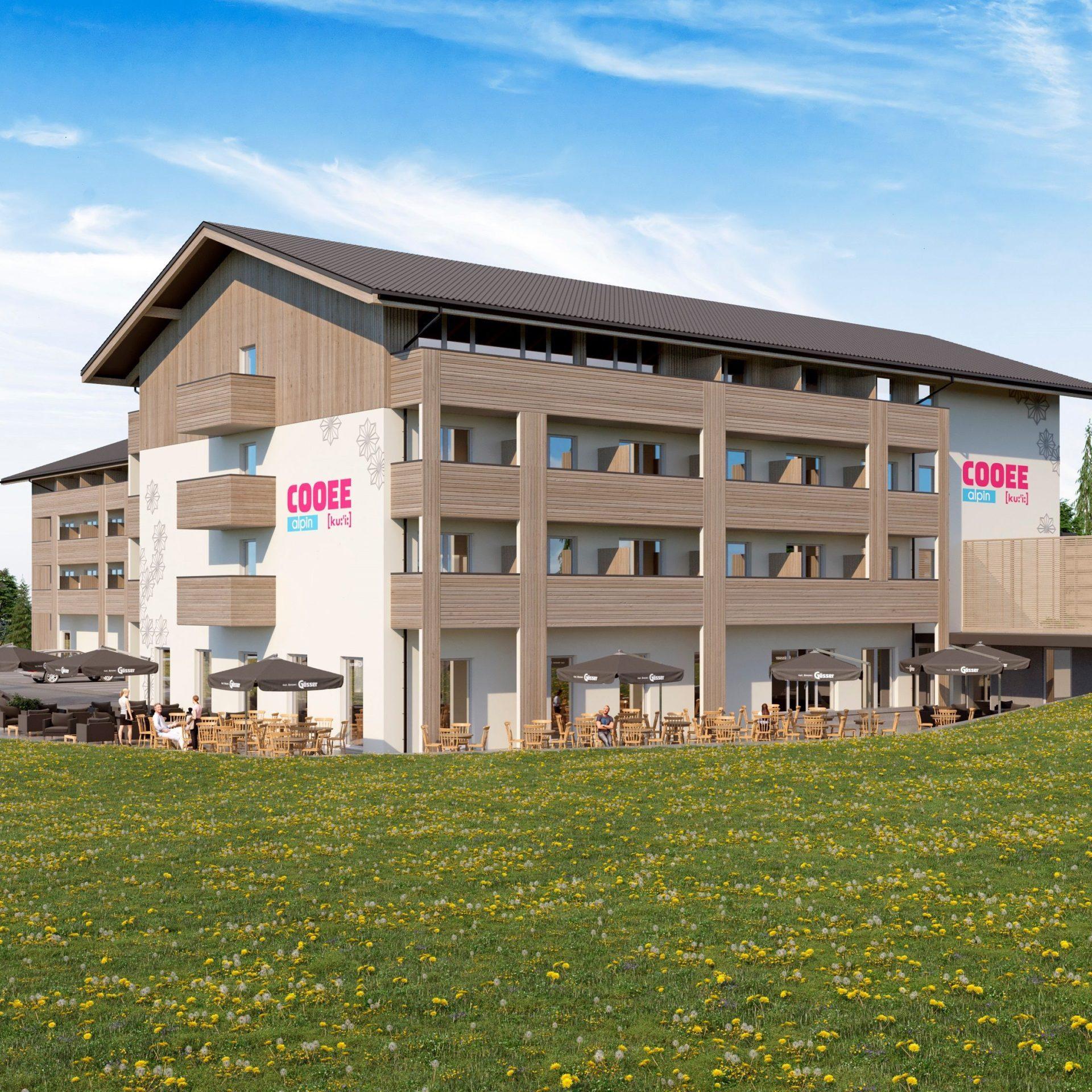 visualisierung_des_hotels_mit_terrasse_cooee_alpin_hotel_bad_kleinkirchheim