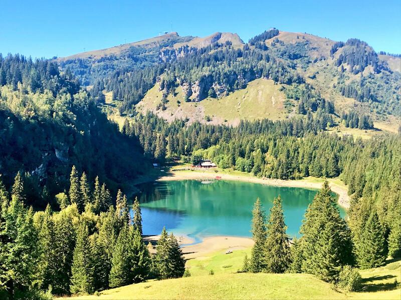 See Lac des Chavaunnes, Wanderung-Balade des 3 Lacs, ©Foto: Andrea Fischer