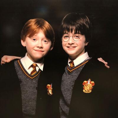 Plakat von Harry Potter und Ron auf der Warner Bros. Studio Tour