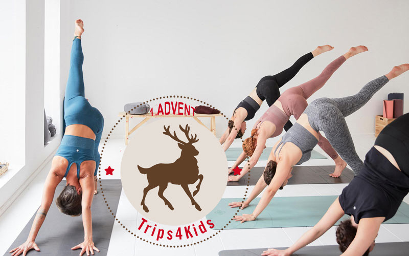 Yoga mit Adventslogo Trips4kids @ Foto: Decathlon