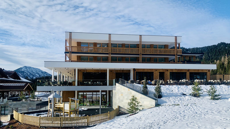 Zugspitze-Resort Ansicht Neubau @ Foto: Trips4Kids.de, Andrea Fischer